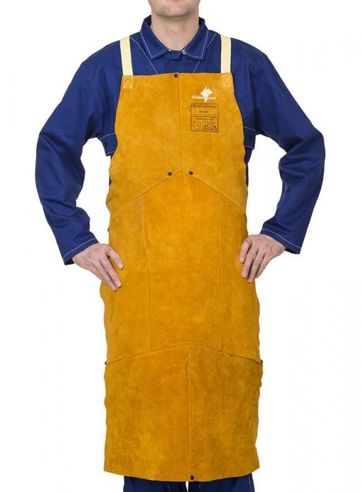 Weldas Golden Brown™ split cowleather welding bib apron