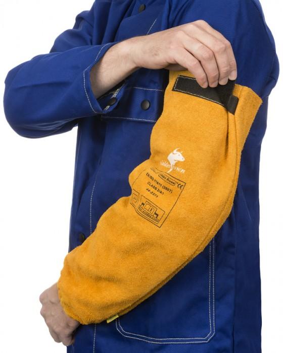 Weldas Golden Brown™ split cowleather welding sleeves (pair)