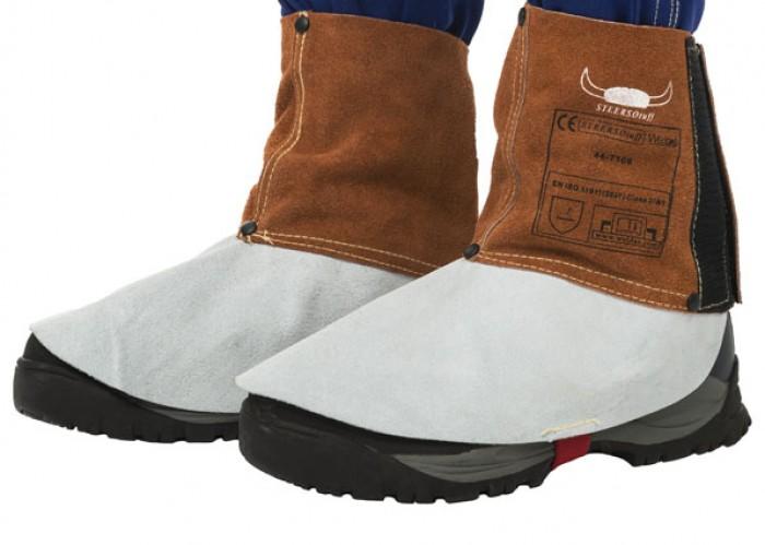 Weldas Lava Brown™ split cowleather welding spats (pair)