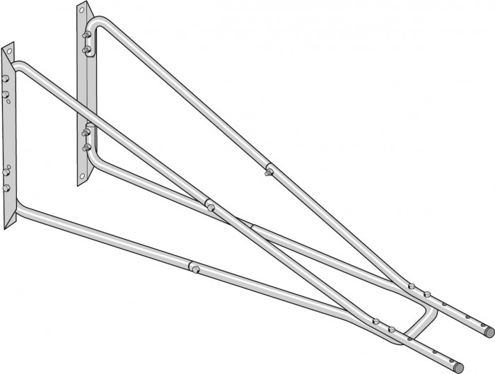 Nederman 2m Extension Wall Bracket for Extraction Arm