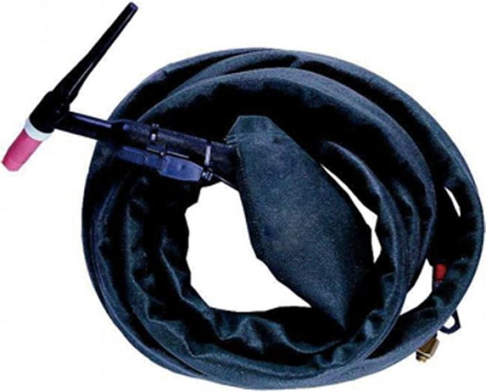 Weldas PYTHONrap™ cable cover, black flame retardant nylon, 8 meter length and 28 mm diameter, zipper closure