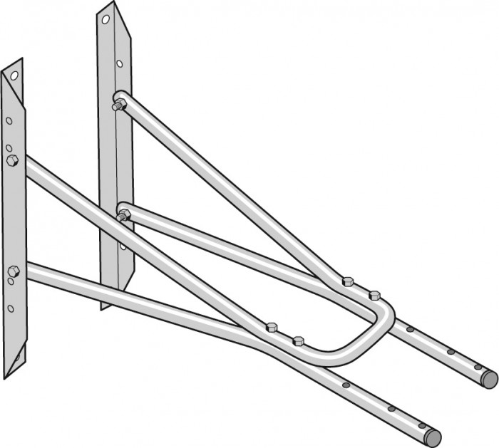 Nederman 1m Extension Wall Bracket for Extraction Arm  Original