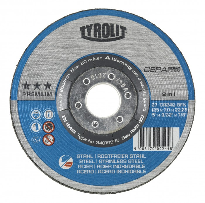Tyrolit CERABOND PREMIUM*** Rough Grinding Wheels 2 in 1