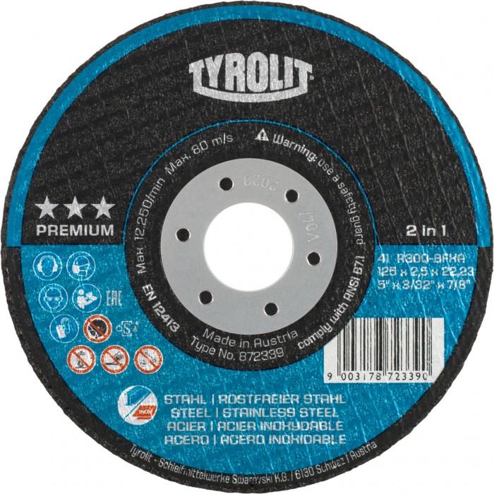 "Tyrolit Tyrolution Premium *** 2-in-1 super-thin cut-off disc cutting wheels 230 (9"") x 1.9 - BOX 25"