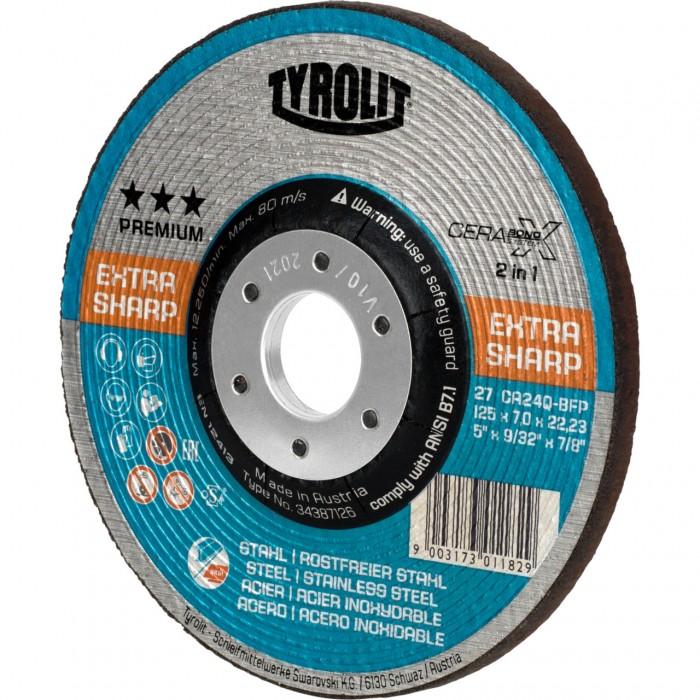 "Tyrolit CERABOND X PREMIUM*** Rough Grinding Wheels 115 x 7 (4 1/2"") - Box 5"