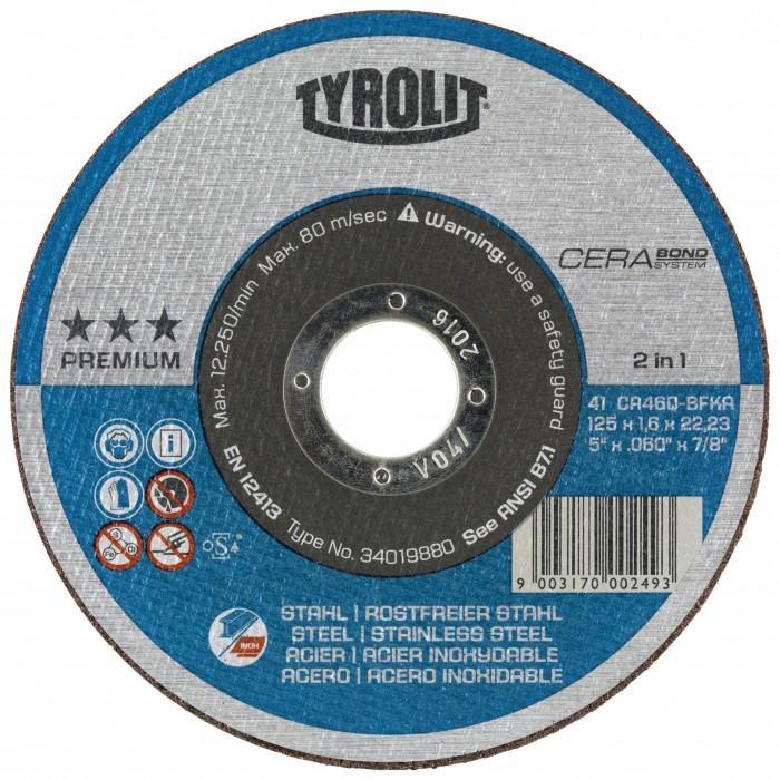 Tyrolit CERABOND PREMIUM*** Cutting discs 2 in 1