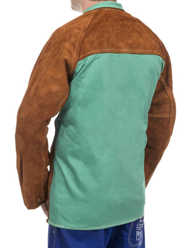 Weldas Lava Brown Welding Jacket With Split Cowleather