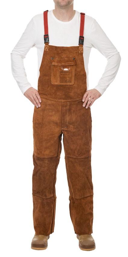 Weldas Lava Brown Split Cowleather Welding Pants With