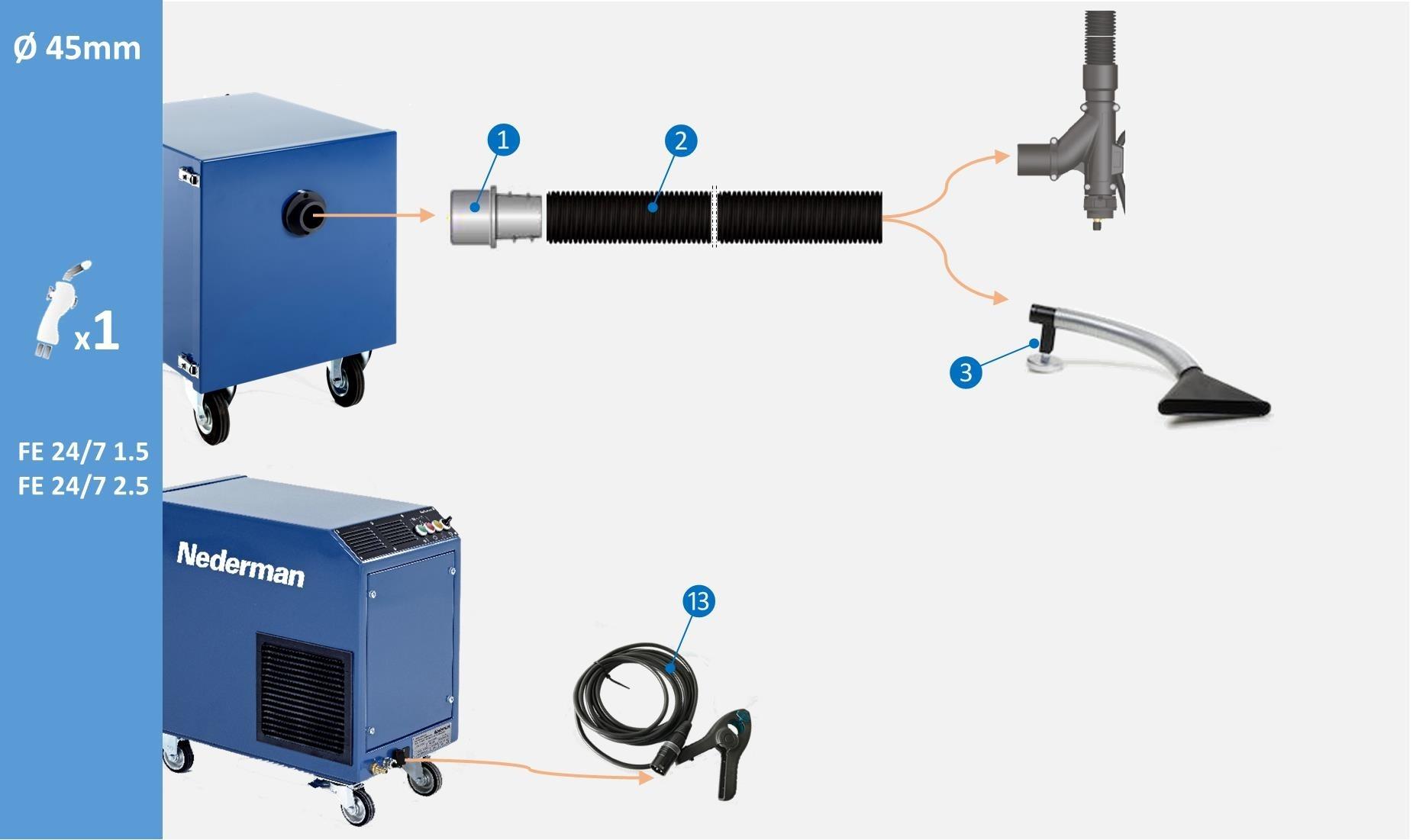 Mig Welding Torch Diagram Not Lossing Wiring Machine Block Nederman Fume Eliminator 24 7 1 5 Miganglia