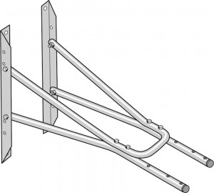 Nederman 1m Extension Wall Bracket for Extraction Arm