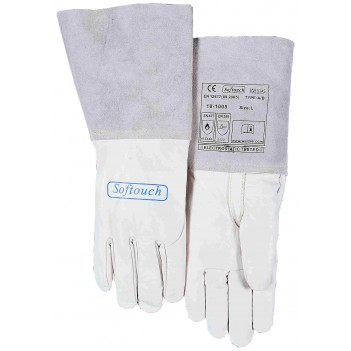Weldas SOFTouch™ top grain calfskin welding glove with reinforced thumb.