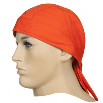 Weldas Fire Fox™ welding Bandana, flame retardant orange cotton