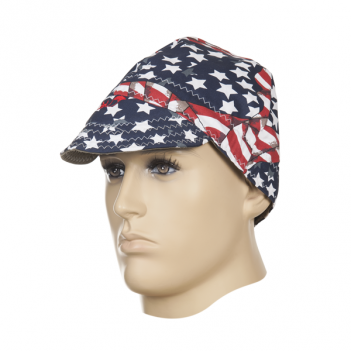 Weldas Fire Fox welding cap, USA flag