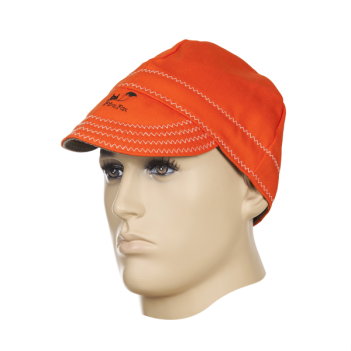 Weldas Fire Fox™ Welding cap, flame retardant orange cotton