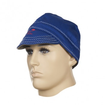 Weldas Fire Fox™ Welding cap, flame retardant blue cotton