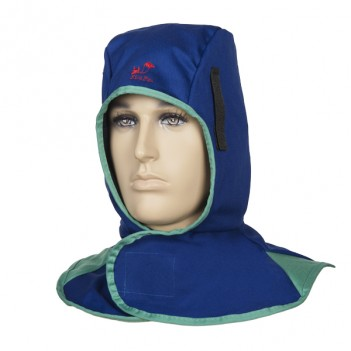 Weldas Fire Fox™ flame retardant welding hood, blue
