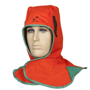 Weldas Fire Fox™ flame retardant welding hood, orange