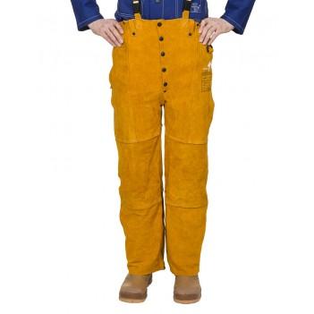 Weldas Golden Brown™ split cow leather welding pants