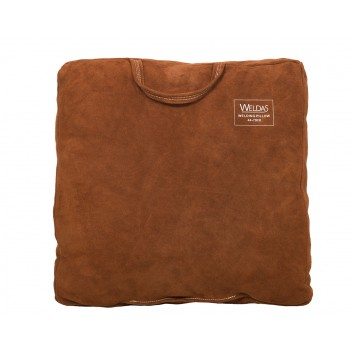 Weldas Lava Brown™ welding pillow, Split brown cow leather