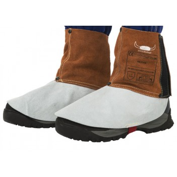 Weldas Lava Brown™ split cow leather welding spats (pair)