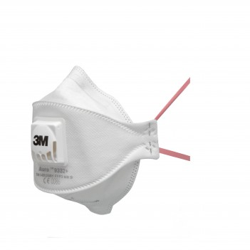 3M™ Aura™ 9332+ Flat-Fold Particulate Respirator - Pack of 10 units