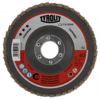 Tyrolit CERABOND PREMIUM*** Flap discs for Stainless Steel