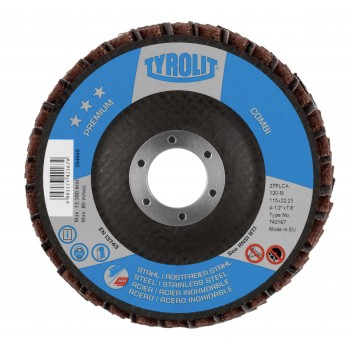 Tyrolit PREMIUM*** COMBI Flap disc for Steel and Stainless Steel