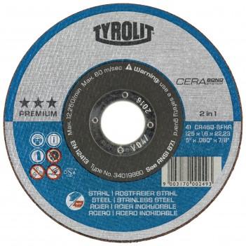 Tyrolit CERABOND PREMIUM*** Cutting discs 2 in 1 - Box of 15