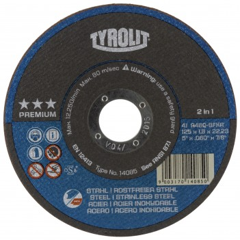 Tyrolit PREMIUM*** Next Generation Superthin Cut-Off Wheels 2 in 1 - Tin of ten